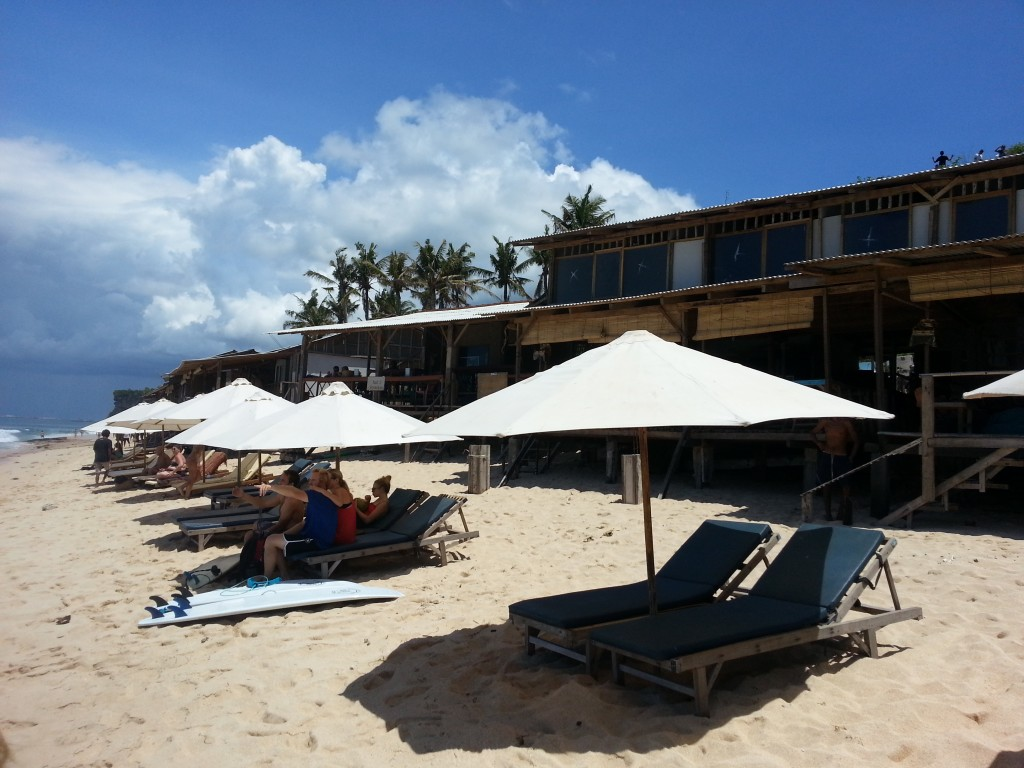 Warungs in Balangan Beach